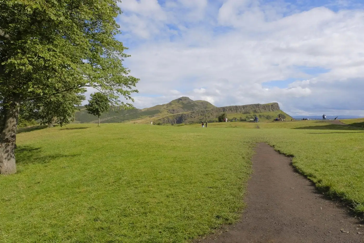 Salisbury Crags and Arthur's Seat from Calton Hill