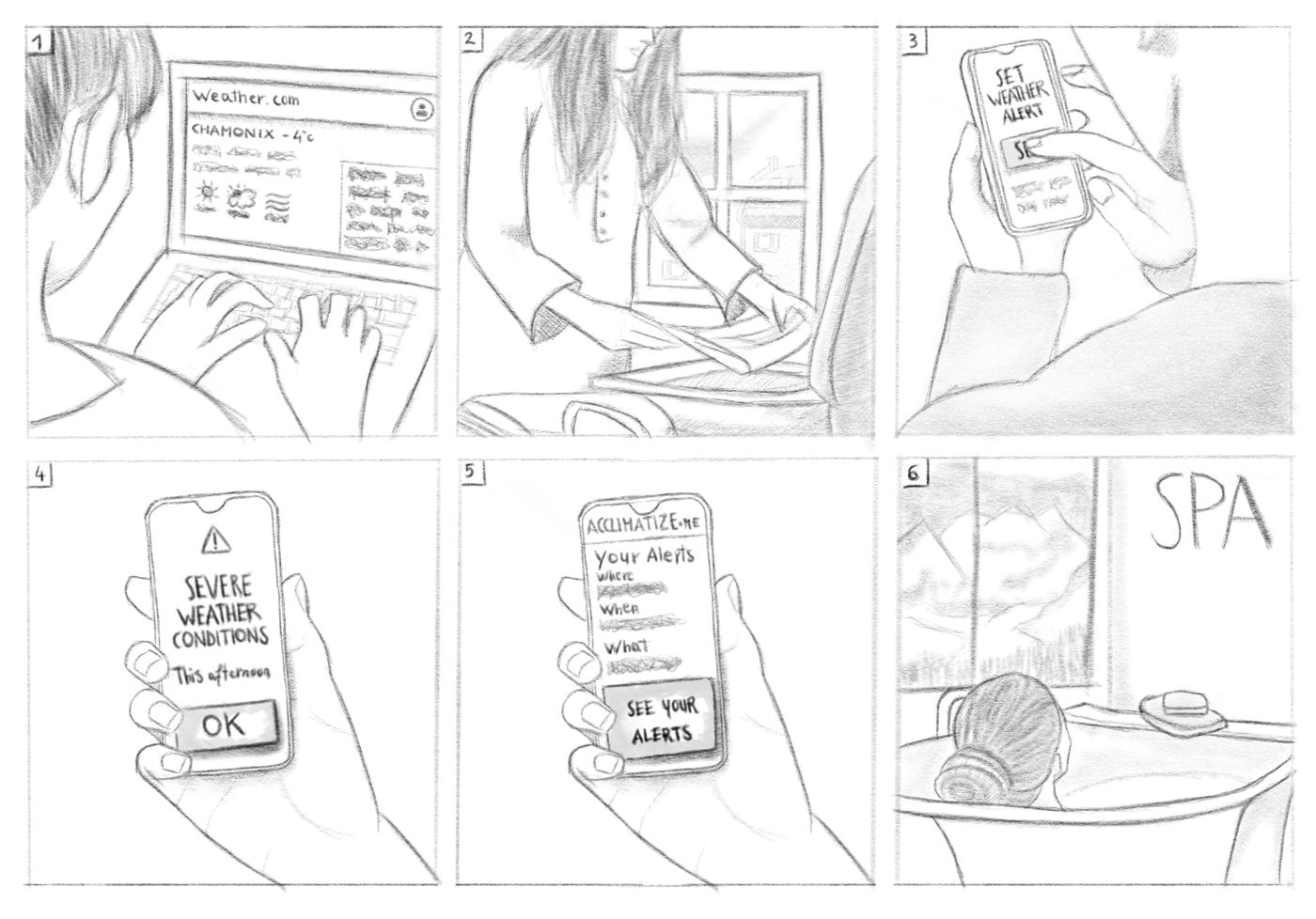 Paper storyboard